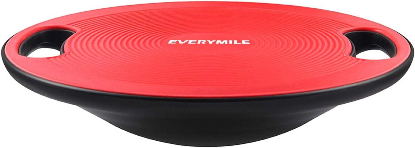バランスボード ダイエット 体幹トレーニング用 EVERYMILE 滑り止め 直径40cm 運動不足 エクササイズ 持ち運びやすい コアマッスル 丸形 運動 健康 リハビリ ケガ予防