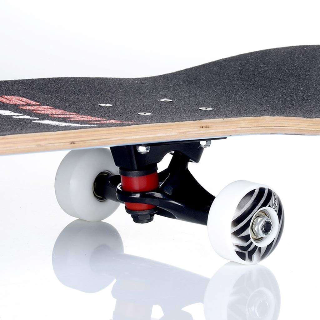 GuanMun Professionelle Vierrad Doppel Rocker Erwachsene Professionelle Kinder Anfänger Anfänger Anfänger Straßenbürste Straße Reise Ahorn Holz (Farbe   A) B07NTN9697 Skateboards Extreme Geschwindigkeitslogistik 2ed820
