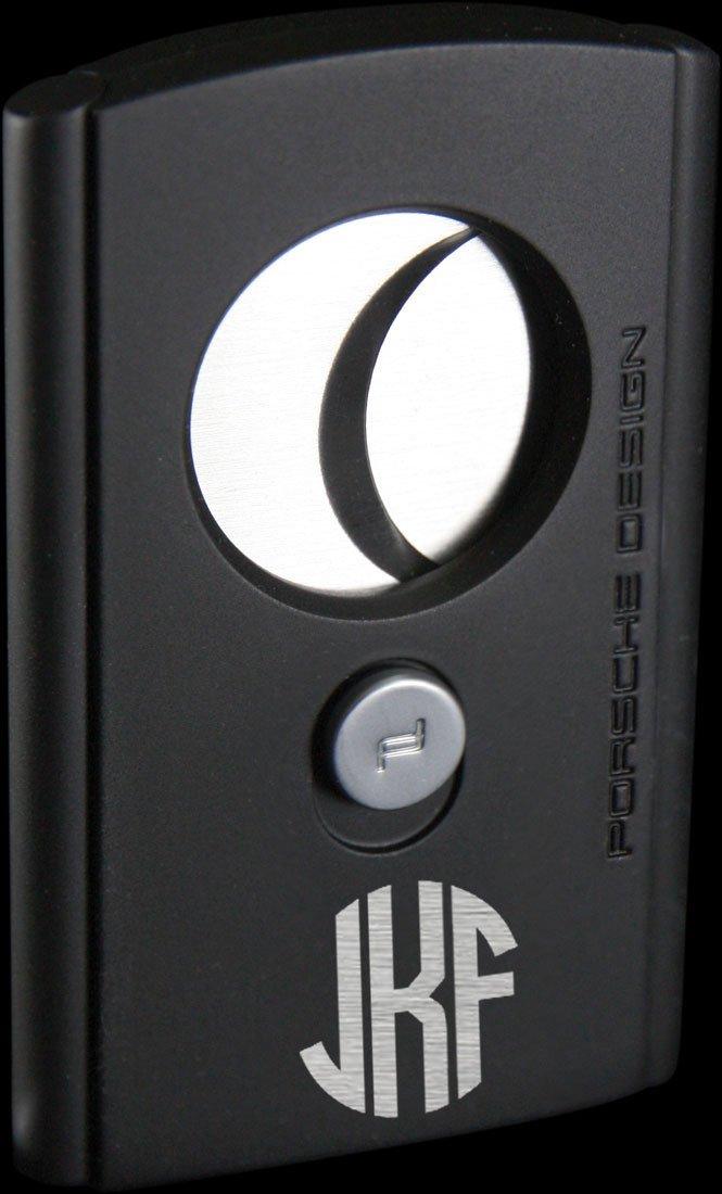 Porsche Design Bavaria Cigar Cutter With Free Circle Monogram Engraving (Matte Black)