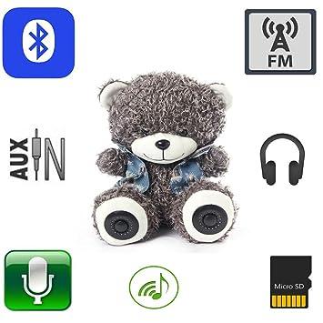 """11,8 """"oso de peluche multifunción Bluetooth inalámbrico tarjeta de memoria Micro SD"""