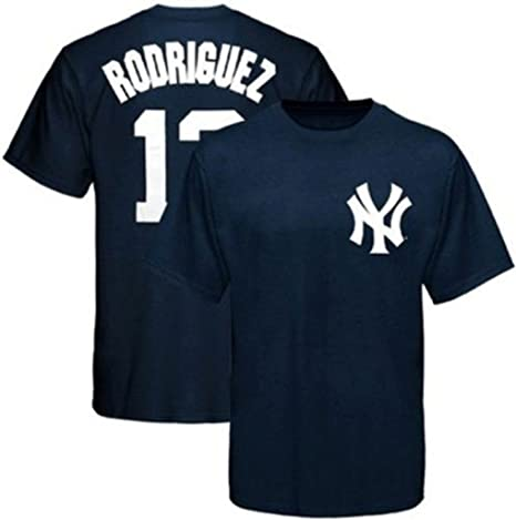 099e1d33 Majestic New York Yankees #13 Alex Rodriguez Navy T Shirt Big & Tall Sizes (