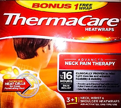 (Thermacare Air-activated Heatwraps Neck Pain Therapy 3+1 Bonus Box)