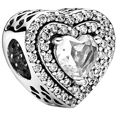 Buy Love Heart Charms Fit Pandora Bracelets S925 Sterling Silver Charm Beads Love Gifts Mother S Day Women S Bead Charm Online In Indonesia B0932qkbx9