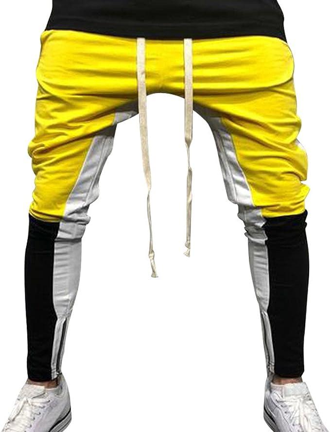 Pantalón Chandal Hombre Pantalones Deportivos con Cordones ...