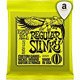 Ernie Ball 2221 Regular Slinky 6-String Electric Guitar Strings 12-Pack
