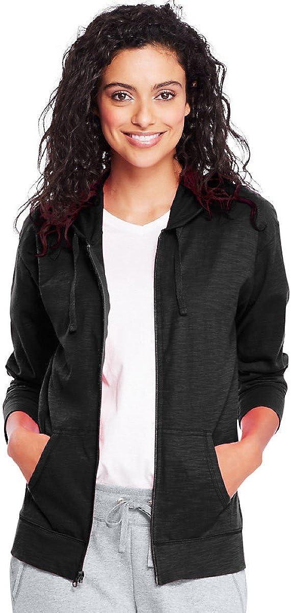 Hanes Womens Slub Jersey Hoodie O9249: Clothing