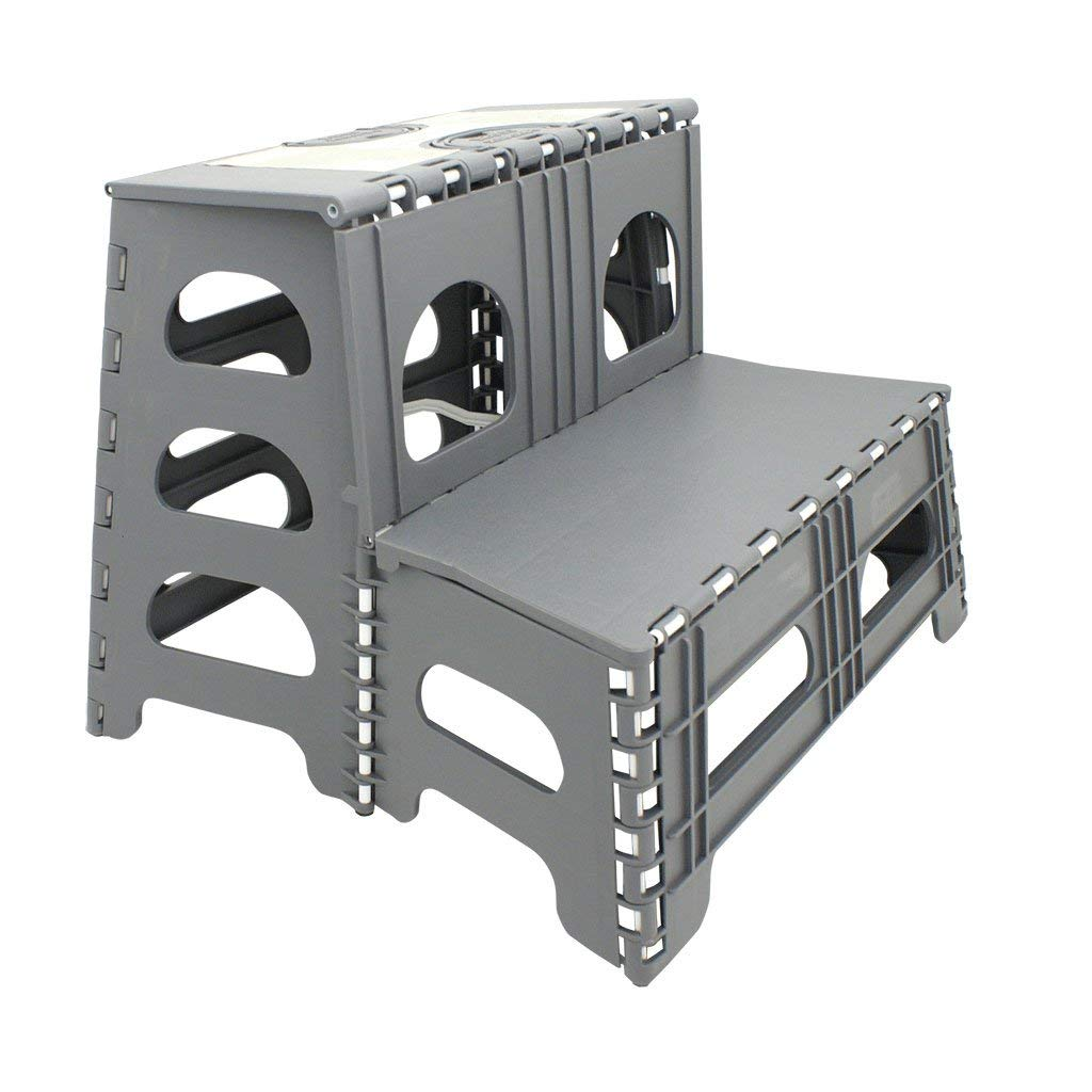 Range Kleen Ss2 Double Step Gray Folding Stool 19 5 Inches
