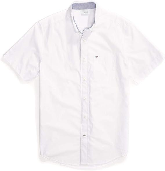 Tommy Hilfiger camisa de manga corta con botones y cierre ...