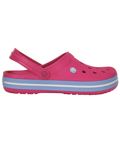 crocs Damen Freizeitschuhe Crocband Candy/Pink-Bluebell 11016-6EF Crocband Pink/Bluebell