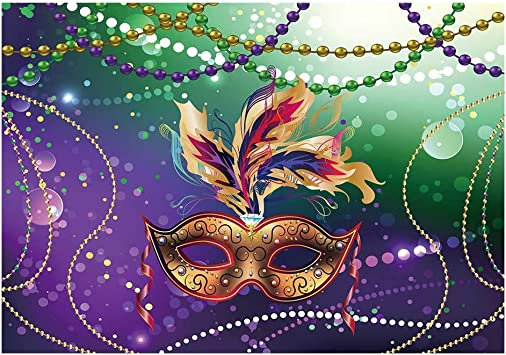 Amazon Com Funnytree 7x5ft Mardi Gras Colorful Photography Backdrop Mysterious Carnival Masquerade Backgrounds Birthday Dancing Party Banner Photo Booth Cake Table Banner Camera Photo