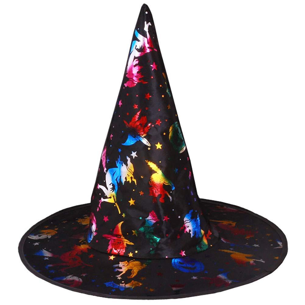 Stregone colorato Cap oro strega cappello Halloween strega costumi Cosplay partito favore 1PC Hilai