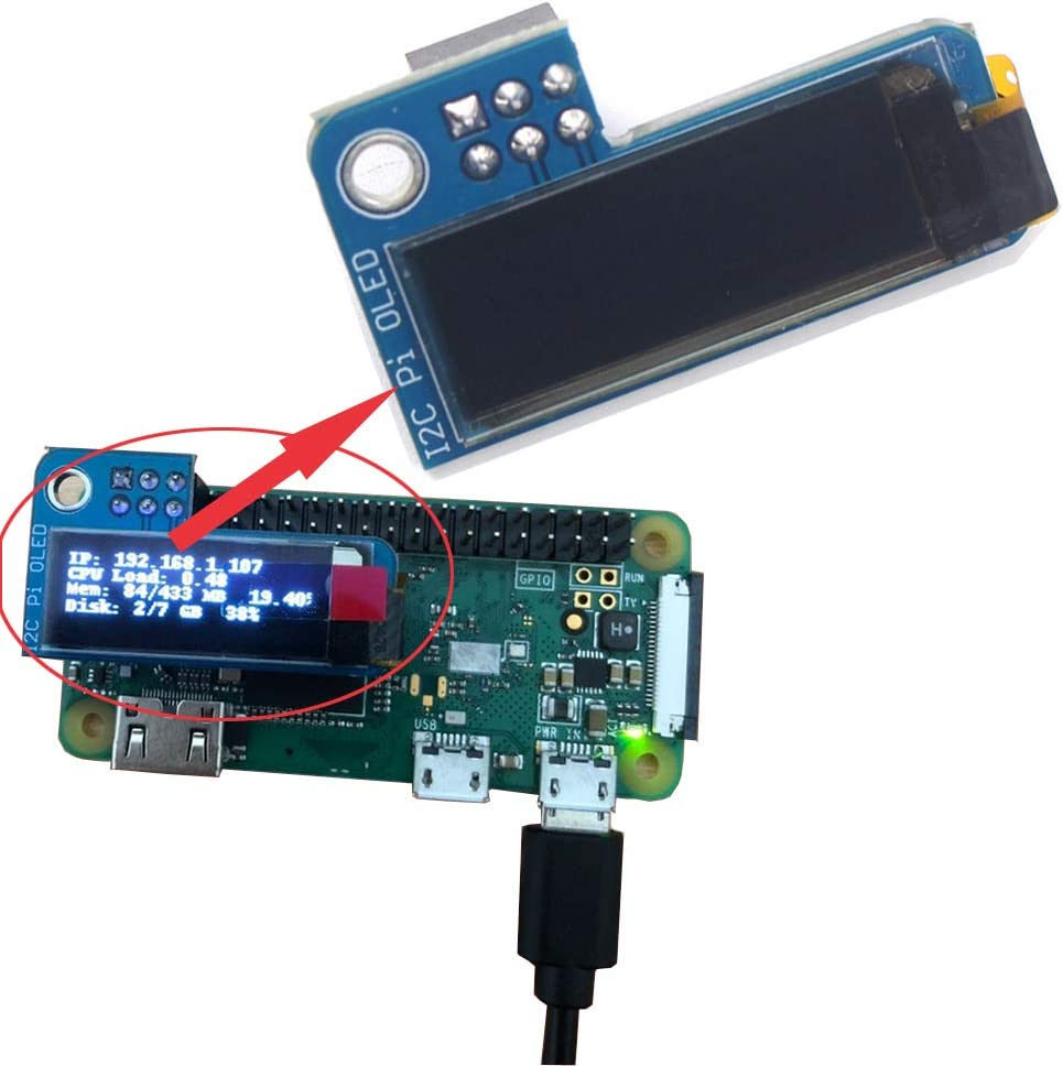 MakerFocus 2pcs I2C OLED Display Module 0.91 Inch I2C SSD1306 OLED Display White
