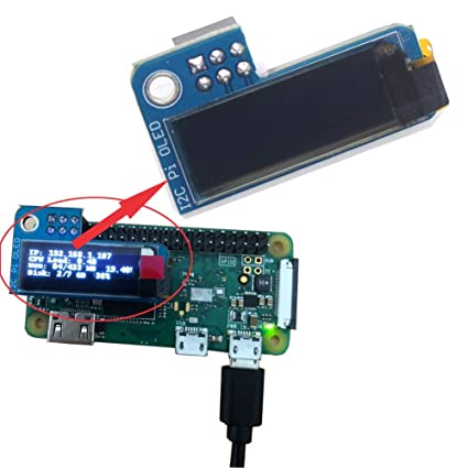 Amazon com: DIYmall PiOLED 0 91inch I2C 128X32 SSD1306 OLED