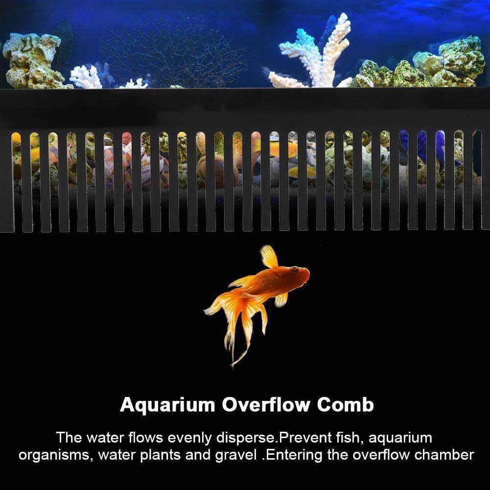 Zerodis Acquario Acrilico Overflow Pettine Pettine Weir Pettine Bellissimo Flusso dellAcqua Pettine per prevenire la tracimazione di gamberi di Pesce per Acquario Box Acquario Pompe