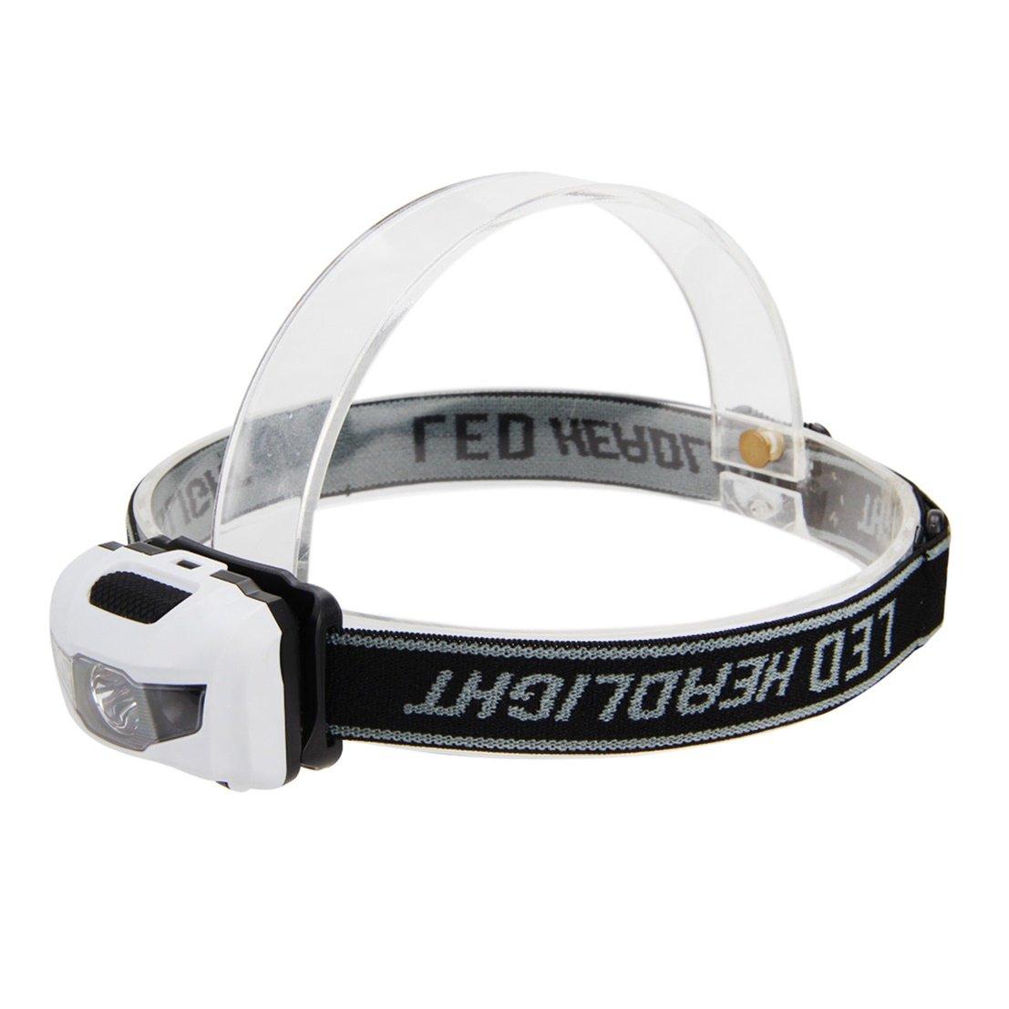 1 Pc Professional Popular Mini LED 300 Lumens Headlamp Fishing Flashlight Bike Torch Waterproof Colors White and Black