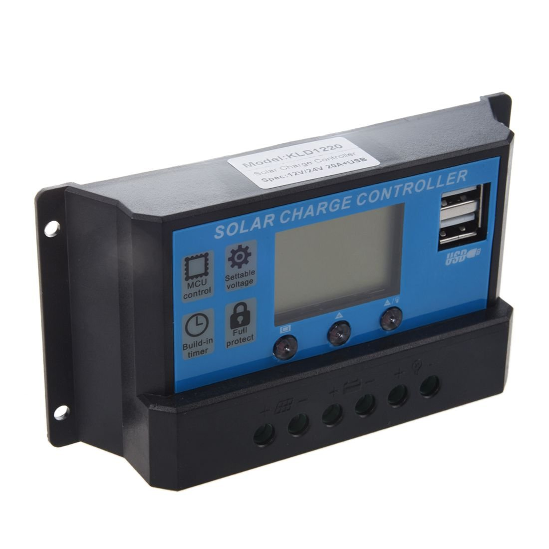 Solar charge controller - TOOGOO(R)Solar charge controller LCD 12V / 24V USB interface for solar module solar panel