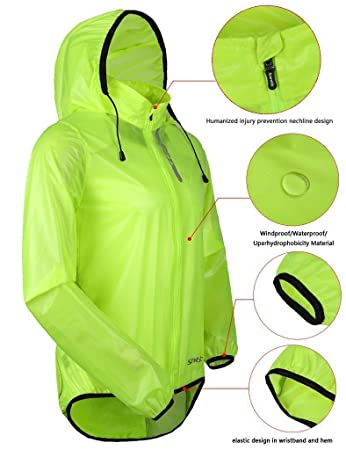 Santic Mens Cycling Jacket Hi Vis Windproof Breathable Mountain Bike Rain  Coat Lightweight Green 524d75530