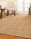 NaturalAreaRugs Calvin Natural Jute Fiber Area Rug, Handmade, 100% Jute,...