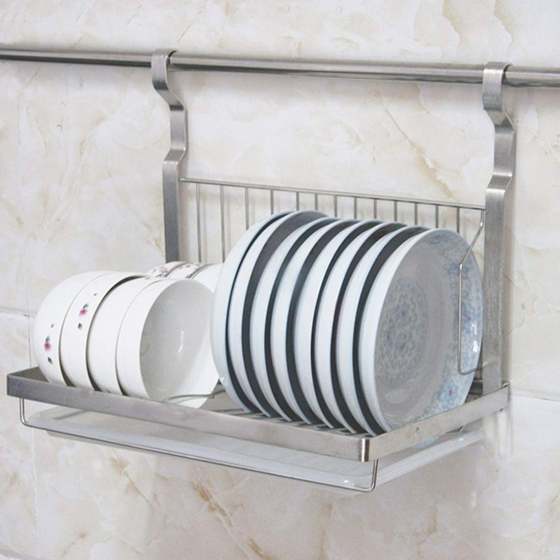 Zuji Foldable Dish Drainer Wall Mounted Dish Drying Rack With Drip Tray Kitchen Plates Organizer Stoarge Shelf In Buy Online In Cayman Islands At Cayman Desertcart Com Productid 169164404 Plates and pan lids benefit from being stored on. zuji foldable dish drainer wall mounted