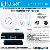 Ubiquiti UAP-AC-PRO-5 Pack UniFi Access Point + Intellinet 560665 8Port PoE+/PoE