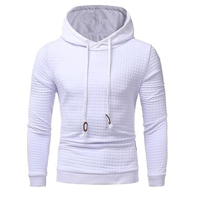 ceaca57cbb799 Tefamore Pour des hommes Manche longue Hoodie à capuche Sweatshirt Tops  Veste Manteau (M,