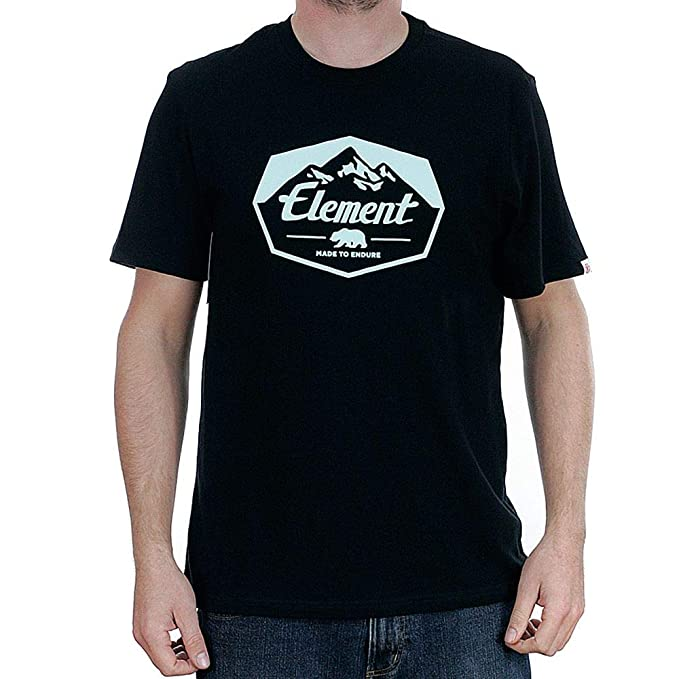 Element Journey Hombre Camiseta T-Shirt Flint Black S