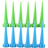 Demiawaking 12-Piece/Set Garden Cone Watering Spikes Drip Controller Flower Plant Waterers Bottle Automatic Irrigation System