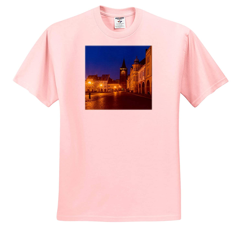 ts/_313081 Twilight in The Main Square Czech Republic 3dRose Danita Delimont Czech Republic - Adult T-Shirt XL Jicin