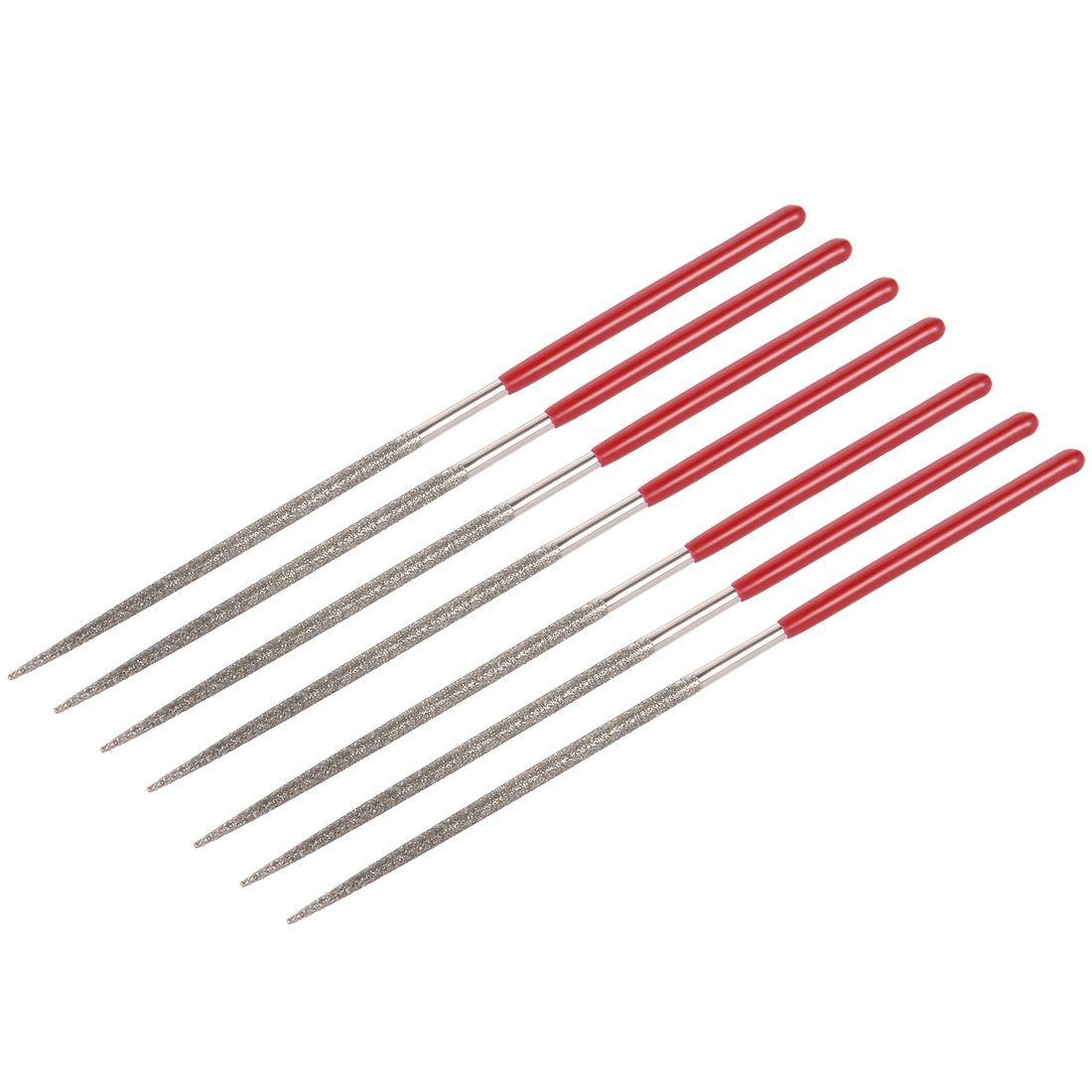 sourcingmap 10Pcs 3mm x 140mm Diamond Needle File Set for Metal Glass Stone