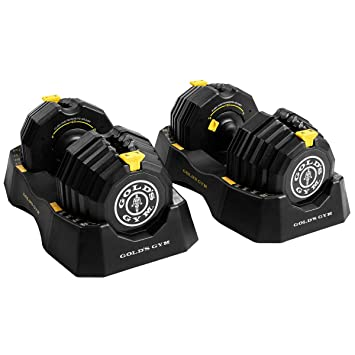 Gold s Gym – 110 Lb. select-a-weight Juego de mancuernas