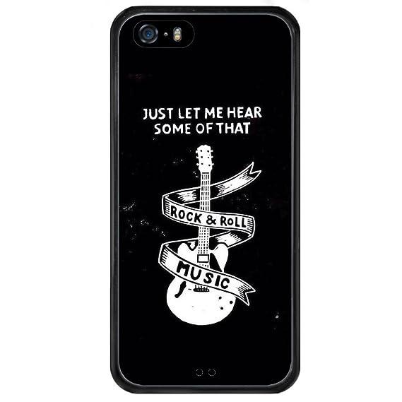 Amazon.com: Music Guitar Lover iPhone 5s 5 SE Case Bumper ...