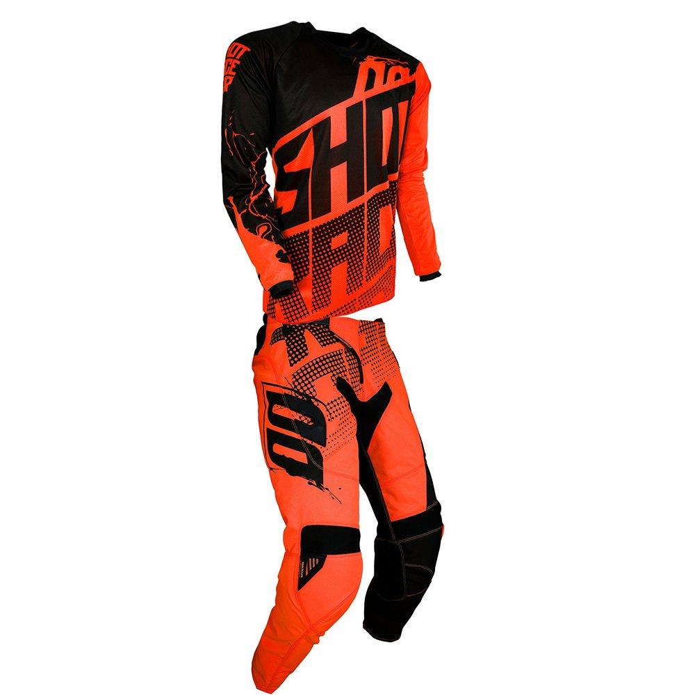 Shot Race Gear Contact Venom Neon Orange Jersey/ Pant Combo - Size LARGE/ 32W