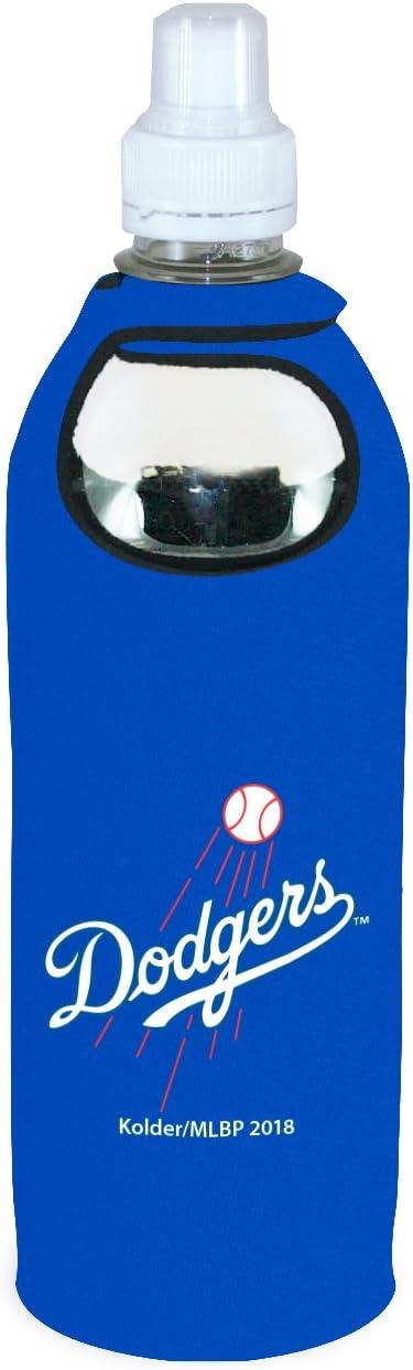 Dodgers 1/2 Liter Water Bottle Neoprene Beverage Insulator Holder Cooler with Clip Baseball