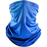 CLISPEED Face Cover Bandana Mouth Cover with Filter Headband Sun UV Hairband for Cycling Outdoor(Random Color)