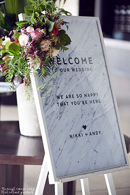 Wedding Decorations DIY Welcome Sign Create That Perfect Marble With Our