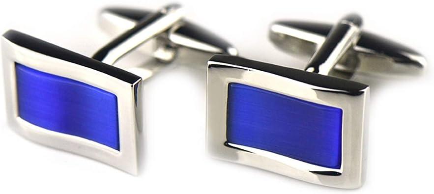 Beydodo Gemelo Cobre Gemelos de Camisa Rectangular Gemelos de Hombre Azul: Amazon.es: Joyería