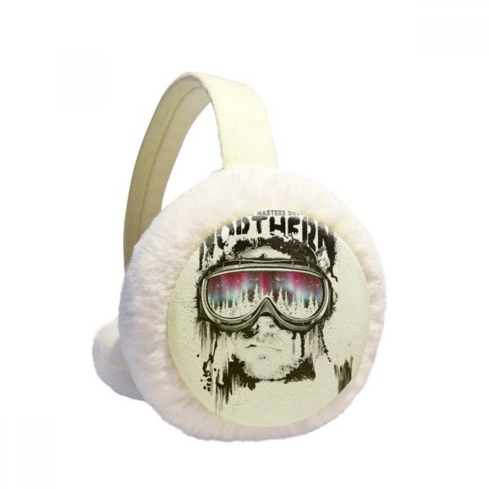 Graffiti Street Northern Skiing Goggles Winter Earmuffs Ear Warmers Faux Fur Foldable Plush Outdoor Gift