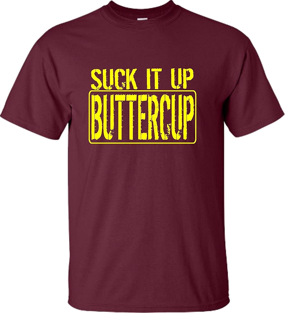 bdb4a827a14412 Amazon.com  Go All Out Adult Suck It Up Buttercup Funny Workout Gym T-Shirt   Clothing