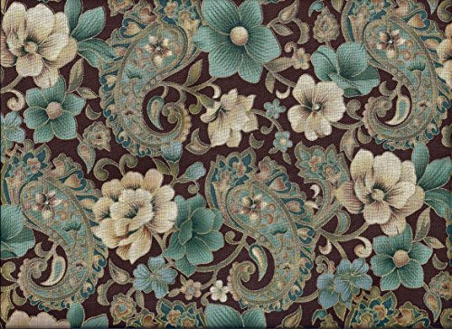 (Paisley Valance Brown Teal Gold)