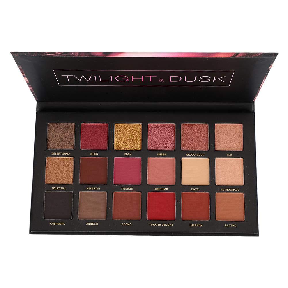 Desert Dusk Eyeshadow Palette, 18 Highly Pigmented Waterproof Matte Glitter Eye Shadows Makeup Cosmetics Tool