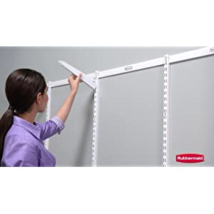 Rubbermaid Configurations Add-On Shelving and Hanging Clothes Kit, Titanium, 48″, FG3H9200TITNM