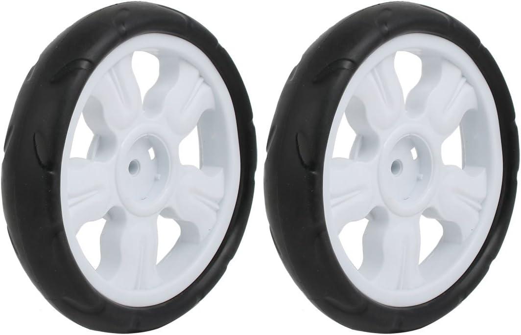 sourcingmap 125mm Diam/ètre roue simple poulie plastique poussette roulant blanc rouleau 6x22mm
