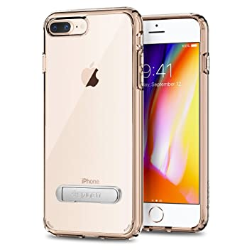 37d9e0227ca spigen Funda iPhone 7 Plus, [Ultra Hybrid S] Kick Stand [Crystal Clear]  Clear Back Panel + TPU Bumper for iPhone 7 Plus - (043CS20754): Amazon.es:  ...
