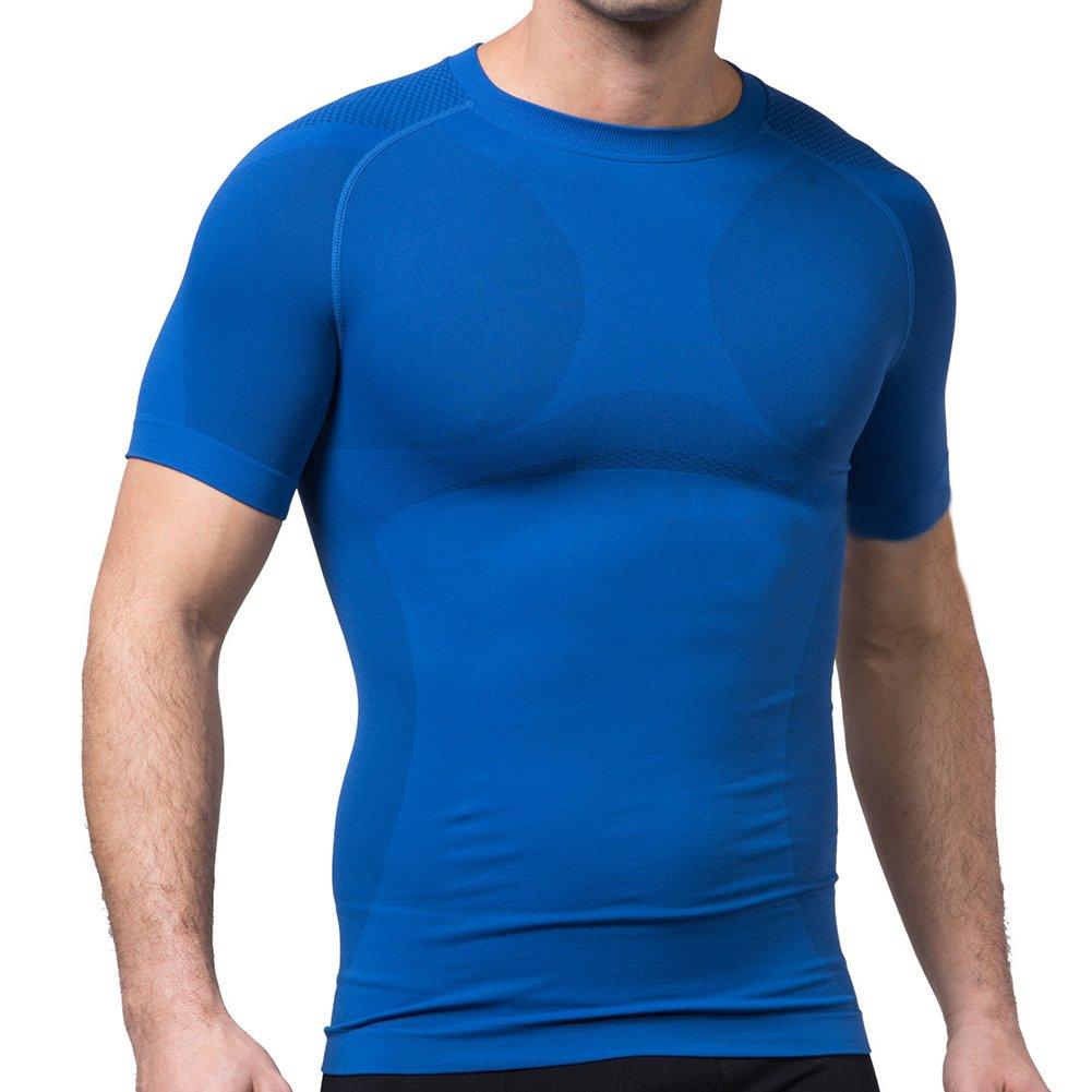 TopTie Men's Compression Top, Short Sleeve Slim Fit T-shirt DK78422