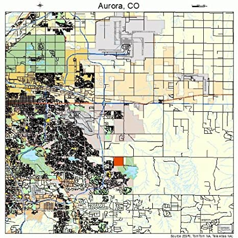 Amazon.com: Large Street & Road Map of Aurora, Colorado CO ...