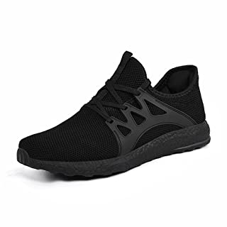 Feetmat Womens All Black Sneakers Ultra Lightweight Breathable Mesh Athletic Walking Running Shoes Black 9.5