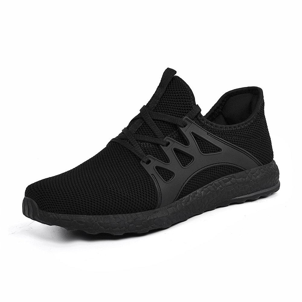 QANSI Hombre Zapatos Deportivos de Gimnasia Zapatillas de Deporte al Aire Libre para Hombre Negro 47