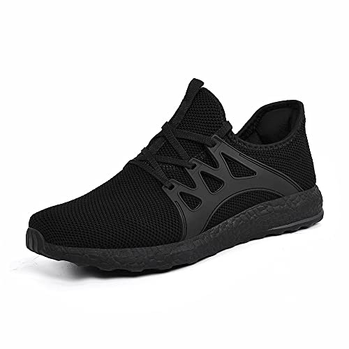Feetmat Womens Sneakers Ultra Lightweight Breathable Mesh Athletic Walking Running Shoes Black 11