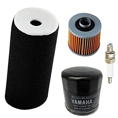 Air Filter + Oil Filter + spark plug suit for 2002-2008 Yamaha Grizzly YFM660 660 4x4 carburetor by LIYYOO: Automotive