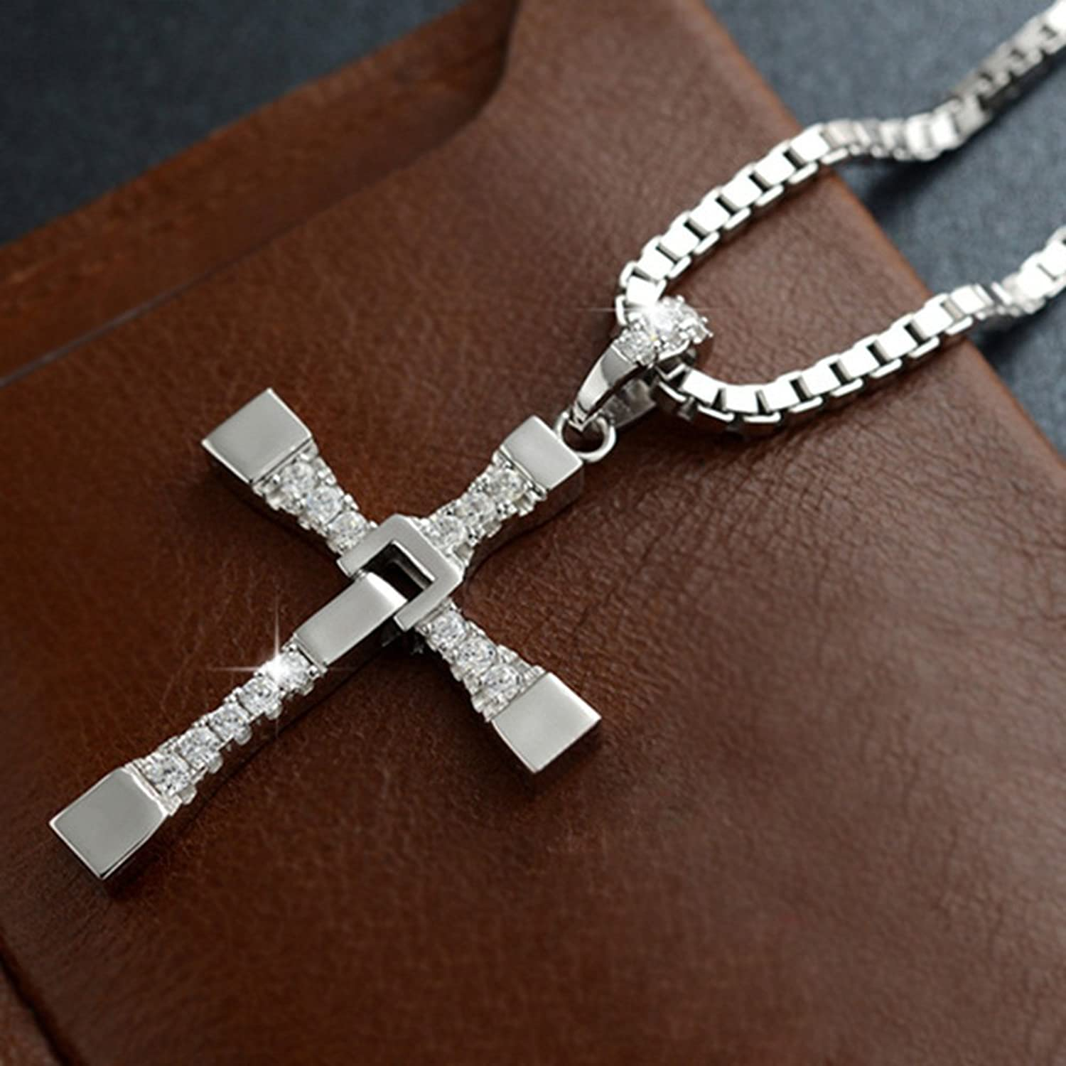 Amazon Viout Men s Pure Silver Cross Necklace Fast & Furious